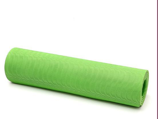 Super Soft Eco Friendly anti slip two tones screen print TPE yoga mat