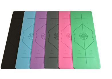 Custom Eco Friendly Natural Rubber / PU Yoga Mat