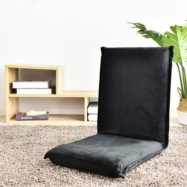 Multi-function living room soft fabric folding floor chair