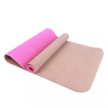 Eco friendly organic sustainable cork yoga mat and yoga mat strap/bag