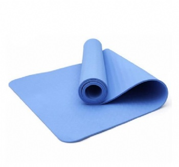 Blue/Black TPE OEM Yoga Mat MOQ 1 Pieces ECO Friendly