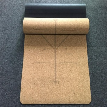 Natural rubber cork Material and burlywood Color cork yoga mat
