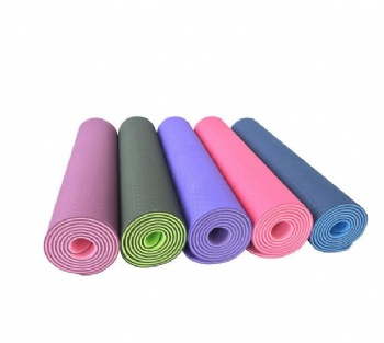 Two color combination tpe yoga mat double layer
