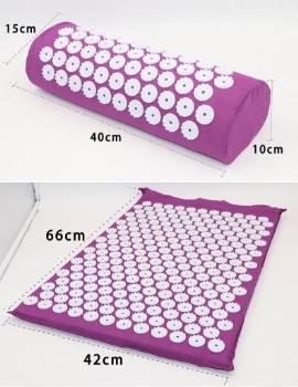Wholesale Fitness Accessories Massage mat Acupuncture mat with ABS needles and pillow