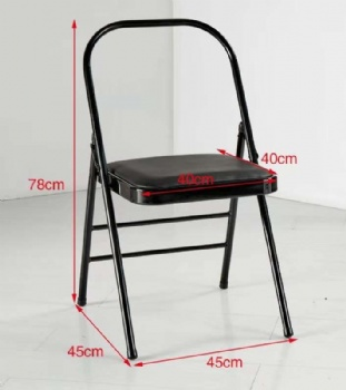 Wholesale Backless metal yoga folding steel chair supplier